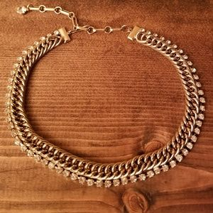 Vintage Gold-Tone and Crystal Choker